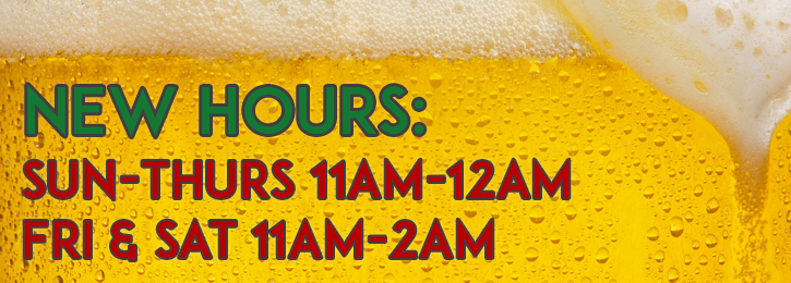New Sunday Hours UPDATED